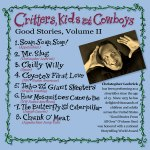 Critters, Kids and Cowboys CD Back -- Tales told by Christopher Leebrick